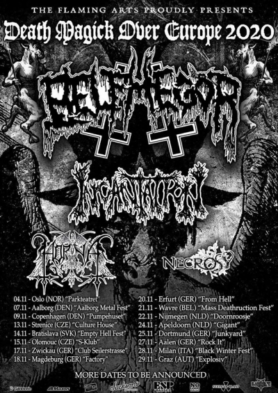 Death Magick Over Europe 2020 (Belphegor, Incantation, Horna, Necrosy) - Nijmegen